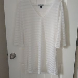 Swimsuit cover up. Sheer white with side slits